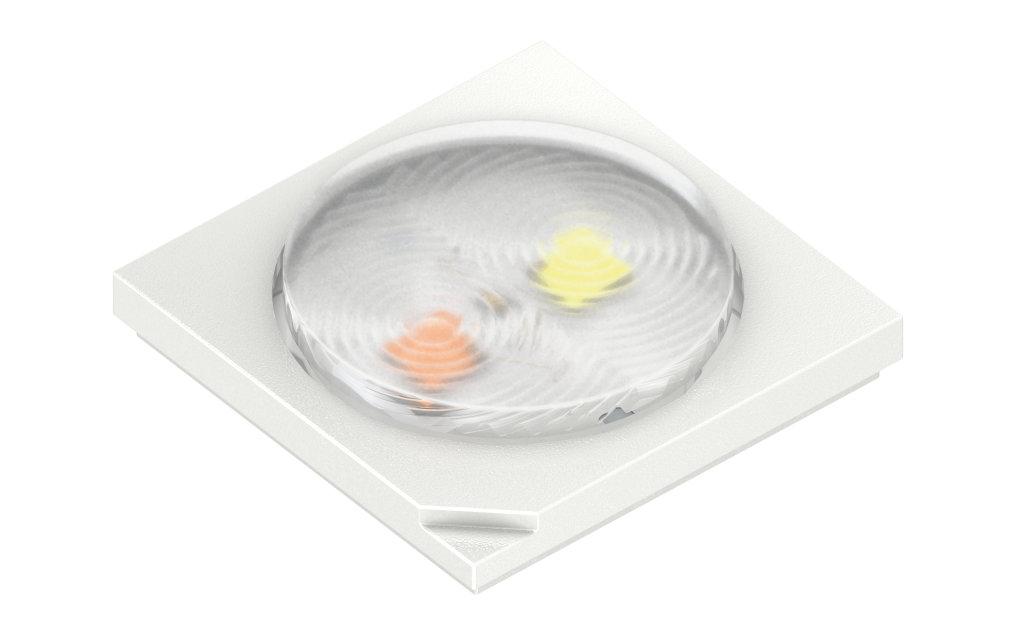 Passende Helligkeit auf jedem Foto: Erste Multi-Chip-LED mit Linse verbessert Blitzlichtanwendungen in Kameras