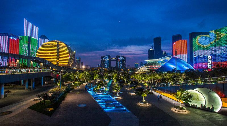 A view of Hangzhou City Terrace