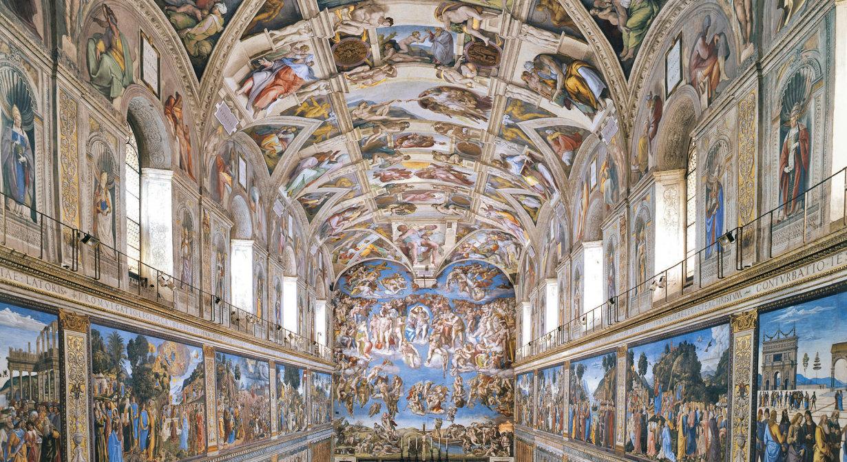 Sixtinische Kapelle Hauptschiff ©Copyright – Governatorato dello Stato della Città del Vaticano – Direzione dei Musei