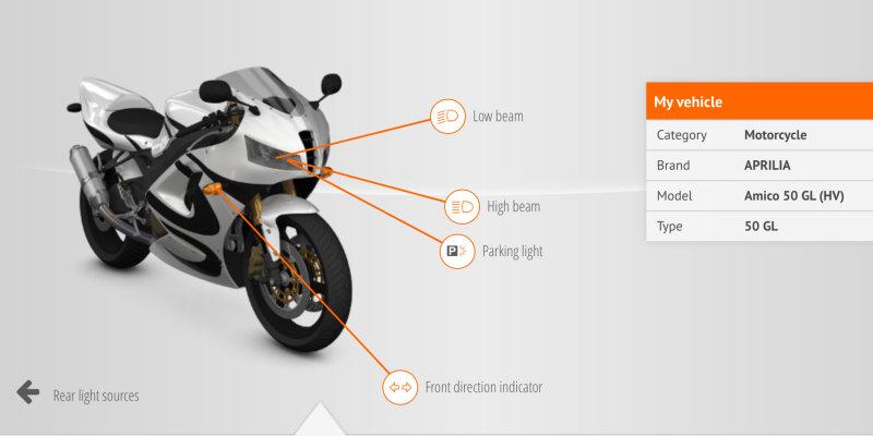 Fahrzeuglampen-Finder für Motorradlampen