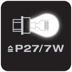 Equivalente a lámparas P27/7W
