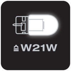Replaces conventional WY21W lamps