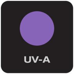 Equipaggiata con luce UV-A