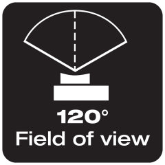 120° field of view