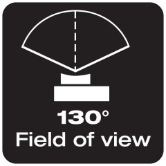 130° field of view