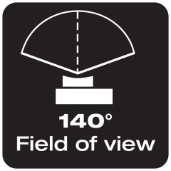 140° field of view