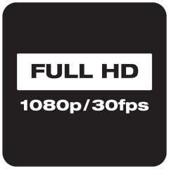 Full HD 1080p 30fps recording
