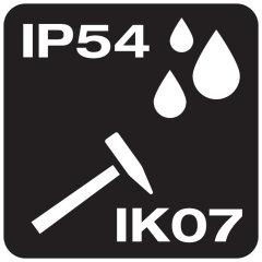 Indices de protection IP54 et IK07