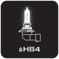 Very compact LED replacement for conventional HB4 high and low beam lamps