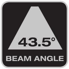 Beam angle 43.5°