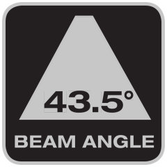 Abstrahlwinkel 43.5°