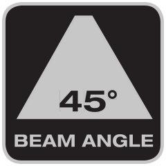 Ampiezza del fascio luminoso 45°