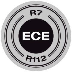 ECE Zertifiziert - ECE R7/R112