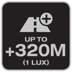 Lighting distance up to 320 meters