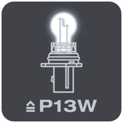 Replaces conventional P13W lamps
