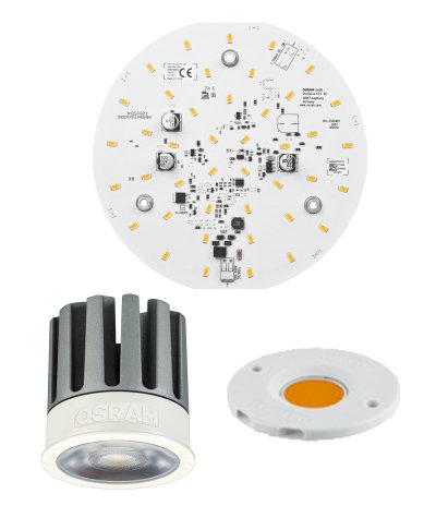 Light Engines und Module für Strahler, Downlights und Wandleuchten