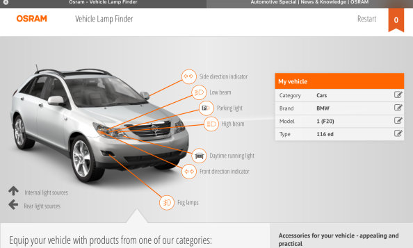 Vehicle Lamp Finder
