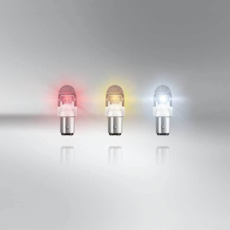 OSRAM P21//5W 12V BAY15d 1557YE-02B 380 Exterior LED car lighting Amber 2 pieces