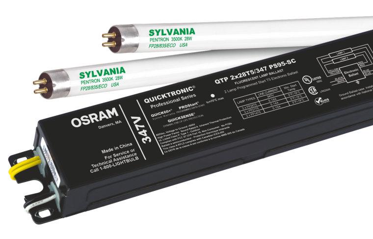 1 Sylvania QT 1x28//120PS Electronic Ballast for F28T5 F21T5 F35T5 F14T5 Lamp