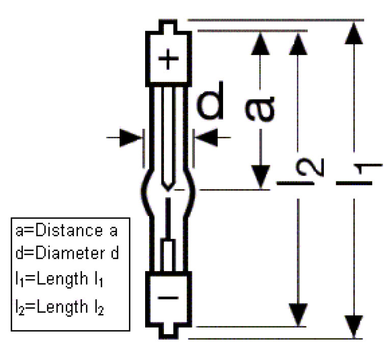 Xenon Short-Arc Discharge Lamp Osram Sylvania Inc 69233 OSRAM XBO 100W OFR