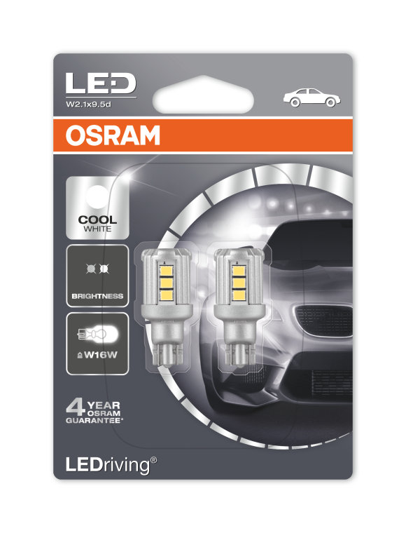 ledriving standard w16w osram automotive. Black Bedroom Furniture Sets. Home Design Ideas