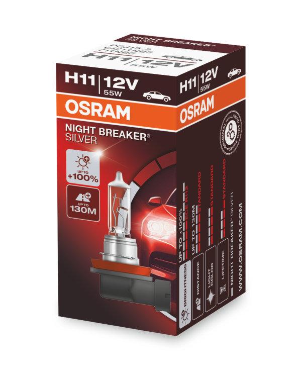 night breaker silver h11 osram automotive. Black Bedroom Furniture Sets. Home Design Ideas